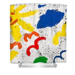Sun And Seagulls Shower Curtain by Gaspar Avila