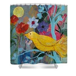 Sun Bearer Shower Curtain by Robin Maria Pedrero