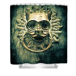 Sun Cat Door Knocker Shower Curtain