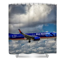 Sun Country Boeing 737 Ng Shower Curtain