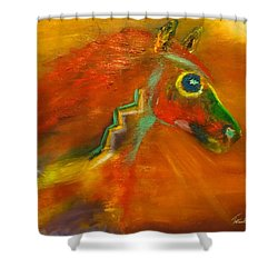 Shower Curtain featuring the painting Sun Dance by Barbie Batson