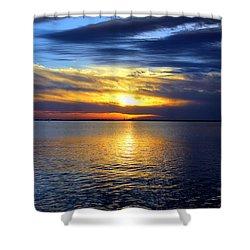 Sun Down South Shower Curtain by Faith Williams