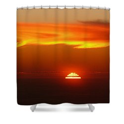 Sun Fire Shower Curtain