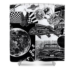 Sun Fish Tomato Chevy Shower Curtain by Genevieve Esson