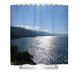 Sun Flare On The Bay Shower Curtain