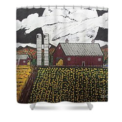Sun Flower Farm Shower Curtain by Jeffrey Koss