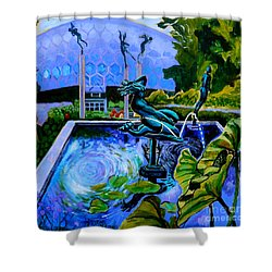 Sun Glitter Mermaid At Missouri Botanical Garden Shower Curtain