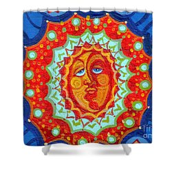 Sun God Shower Curtain by Genevieve Esson