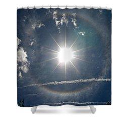 Sun Halo Shower Curtain by Lainie Wrightson