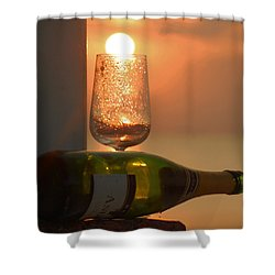 Shower Curtain featuring the photograph Sun In Glass by Leticia Latocki