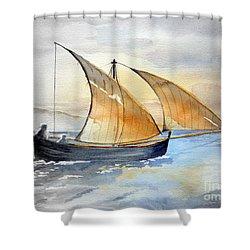 Sun In The Sails  Shower Curtain