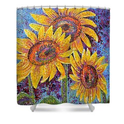 Sun-kissed Beauties Shower Curtain by Margaret Bobb