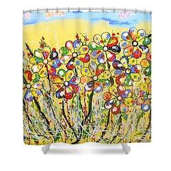 Sun-kissed Flower Garden Shower Curtain