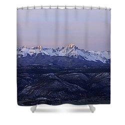 Sun-kissed Sneffels Shower Curtain by Kelly Black