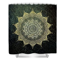 Sun Mandala - Background Variation Shower Curtain