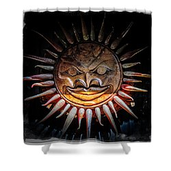 Sun Mask Shower Curtain