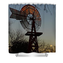 Sun Moon And Wind Shower Curtain by Robert Frederick