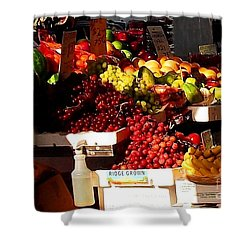 Shower Curtain featuring the photograph Sun On Fruit Close Up by Miriam Danar
