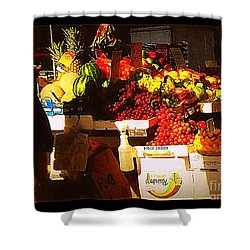 Shower Curtain featuring the photograph Sun On Fruit by Miriam Danar