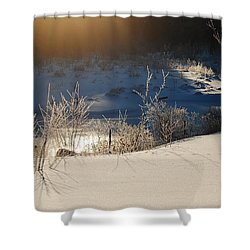 Shower Curtain featuring the photograph Sun On Snow by Mim White