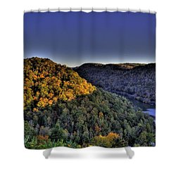 Sun On The Hills Shower Curtain by Jonny D