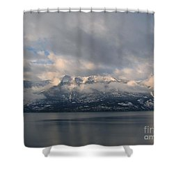 Sun On The Mountains Shower Curtain