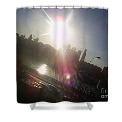 Sun Passion Shower Curtain by Anna Yurasovsky