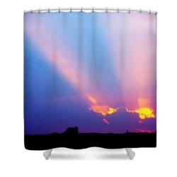 Sun Rays At Sunset Shower Curtain