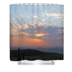 sun rays II Shower Curtain