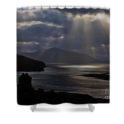 Sun Rays Over Eilean Donan Castle Shower Curtain