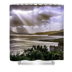 Sun Rays Over Eilean Donan Castle Shower Curtain