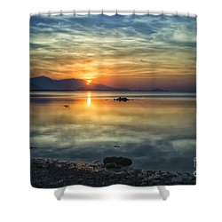 Sun Reflection Shower Curtain