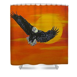 Sun Riser Shower Curtain by Wendy Shoults