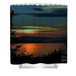 Sun Sets On Winnisquam Shower Curtain