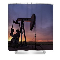Sun Setting On Big Money Shower Curtain by Melany Sarafis
