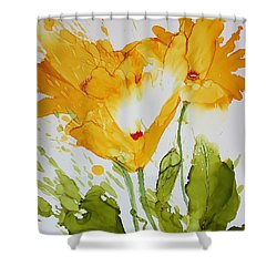 Sun Splashed Poppies Shower Curtain