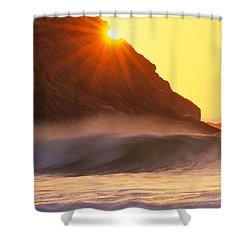 Sun Star Singing Beach Shower Curtain