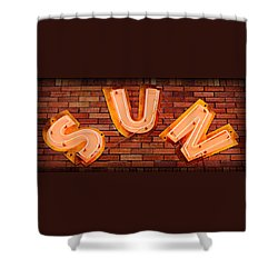 Sun Studio Neon Shower Curtain