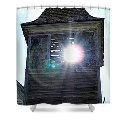 Sun Through The Steeple-by Cathy Anderson Shower Curtain by Cathy Anderson