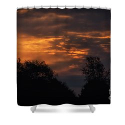 Sun Up Shower Curtain by Thomas Woolworth