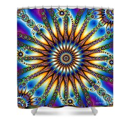 Sun Wheel 2 Shower Curtain by Elizabeth McTaggart