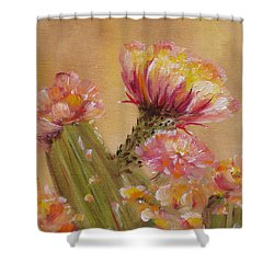 Shower Curtain featuring the painting Sun Worshipper by Judith Rhue