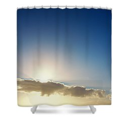 Sunbeams Behind Clouds Shower Curtain
