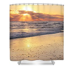 Sunbeams On The Beach Shower Curtain