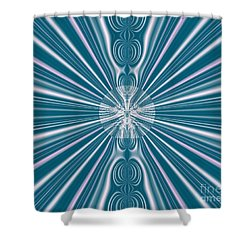 Shower Curtain featuring the digital art Sunburst In The Rain by Luther Fine Art