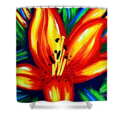 Sunburst Shower Curtain by Jackie Carpenter