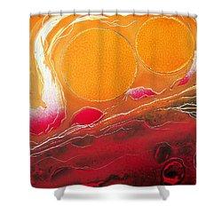 Shower Curtain featuring the painting Sunburst by Jason Girard