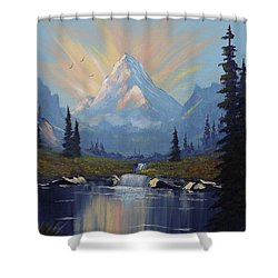 Sunburst Landscape Shower Curtain