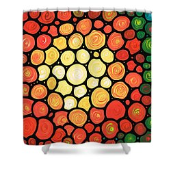 Sunburst Shower Curtain by Sharon Cummings