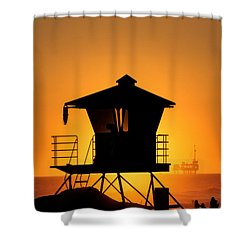 Sunburst Shower Curtain by Tammy Espino